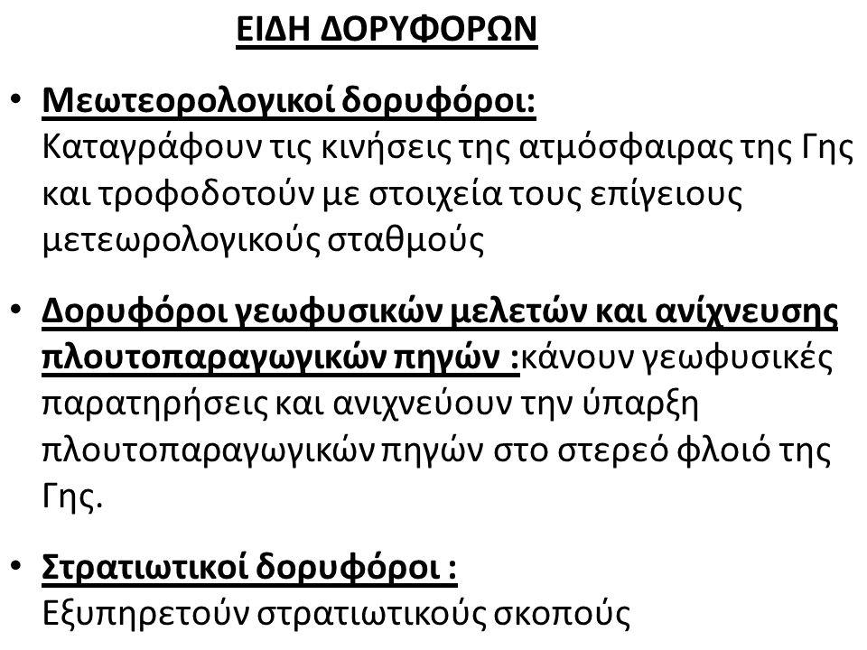 ΕΙΔΗ ΔΟΡΥΦΟΡΩΝ
