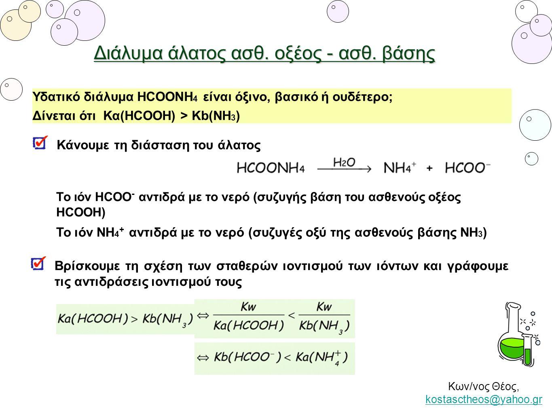 Διάλυμα άλατος ασθ. οξέος - ασθ. βάσης