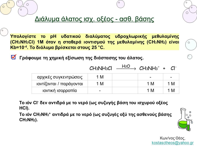Διάλυμα άλατος ισχ. οξέος - ασθ. βάσης