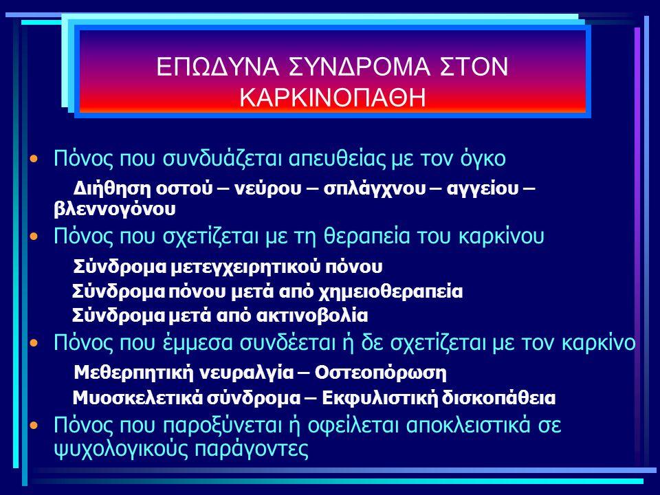 ΕΠΩΔΥΝΑ ΣΥΝΔΡΟΜΑ ΣΤΟΝ ΚΑΡΚΙΝΟΠΑΘΗ