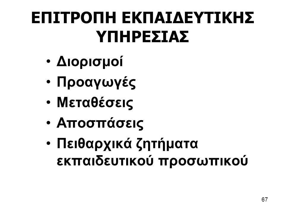ΕΠΙΤΡΟΠΗ ΕΚΠΑΙΔΕΥΤΙΚΗΣ ΥΠΗΡΕΣΙΑΣ