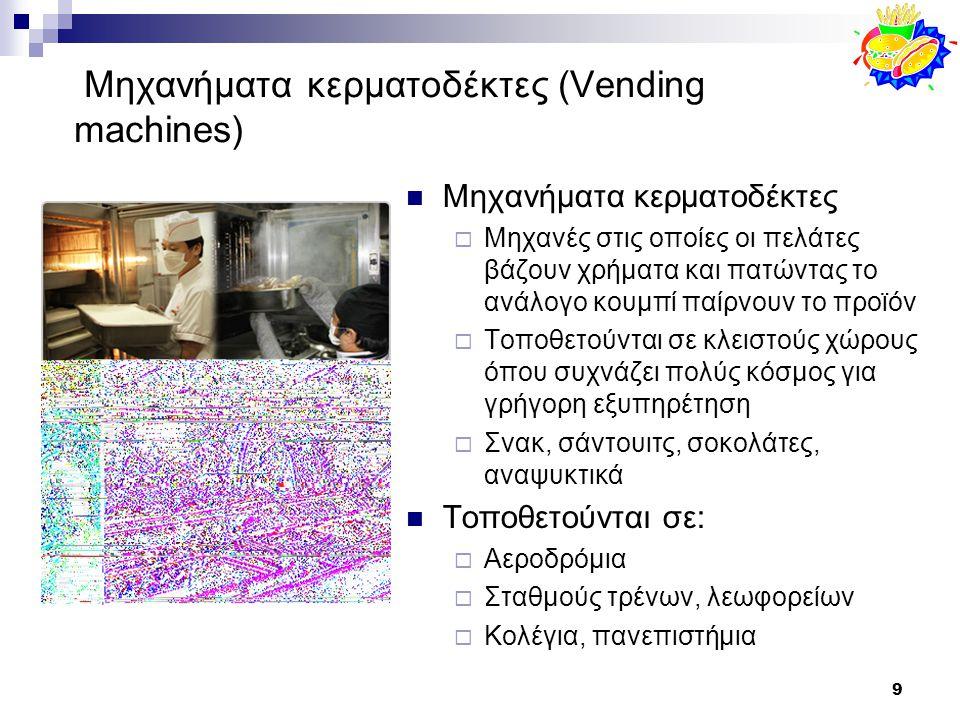 Μηχανήματα κερματοδέκτες (Vending machines)