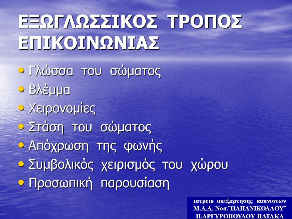 ΕΞΩΓΛΩΣΣΙΚΟΣ ΤΡΟΠΟΣ ΕΠΙΚΟΙΝΩΝΙΑΣ