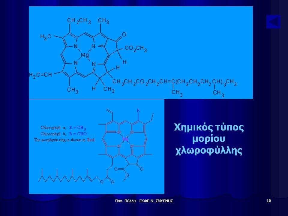 Χημικός τύπος μορίου χλωροφύλλης