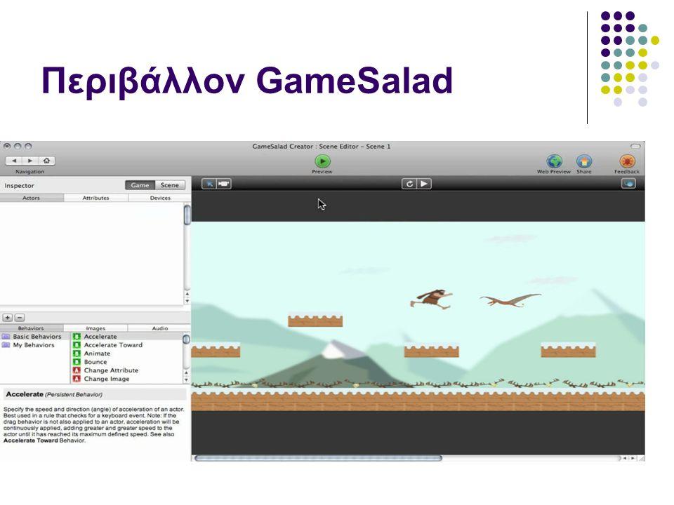 Περιβάλλον GameSalad