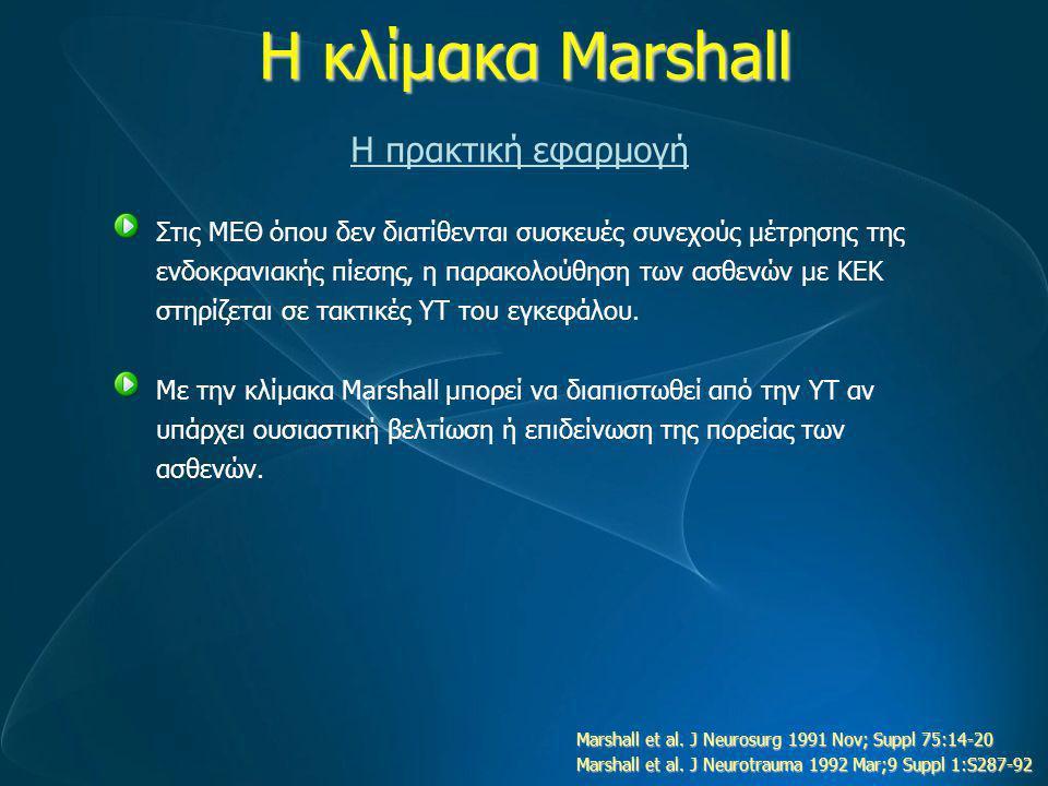 Η κλίμακα Marshall Η πρακτική εφαρμογή