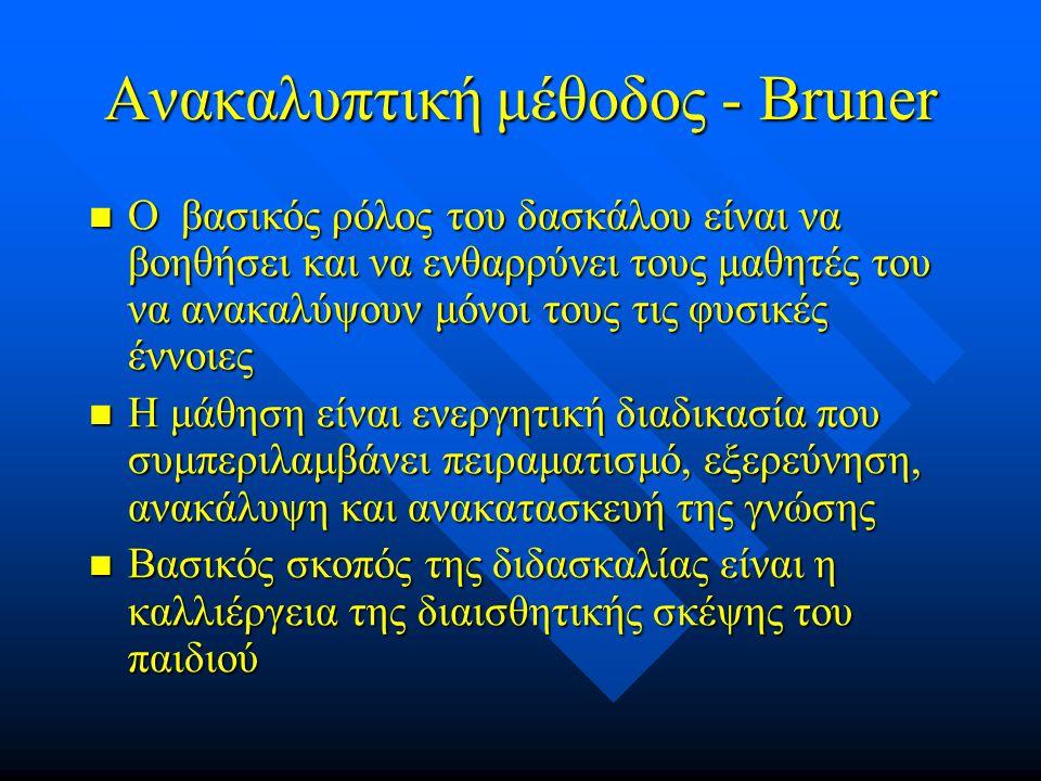 Ανακαλυπτική μέθοδος - Bruner