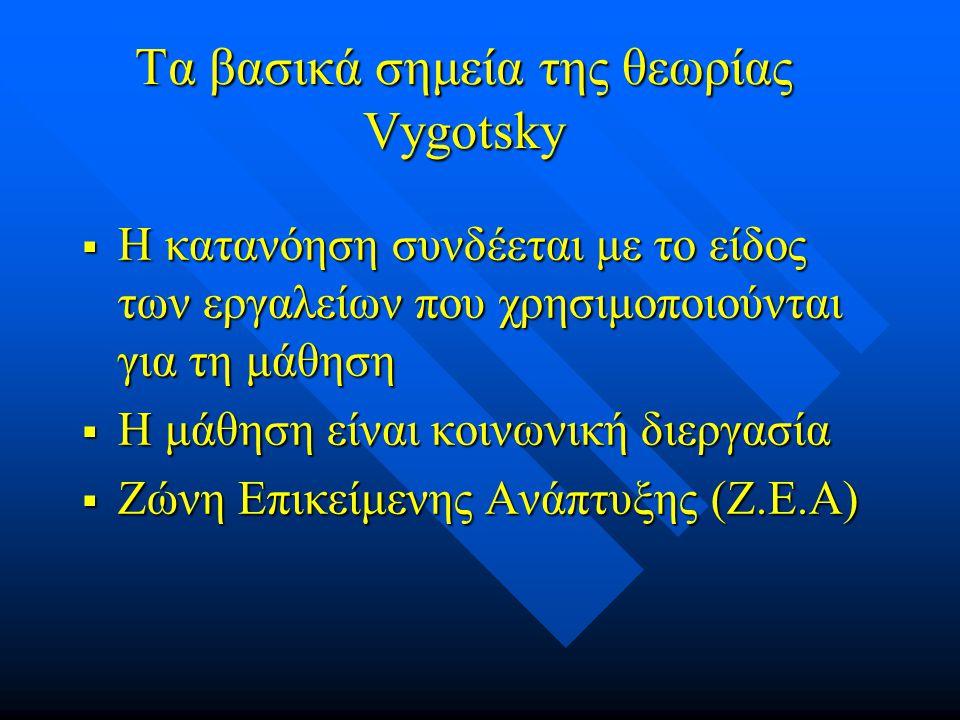 Τα βασικά σημεία της θεωρίας Vygotsky