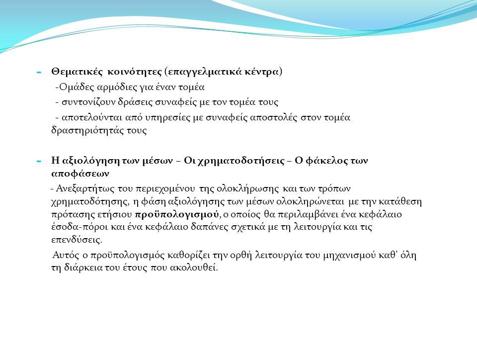 Θεματικές κοινότητες (επαγγελματικά κέντρα)