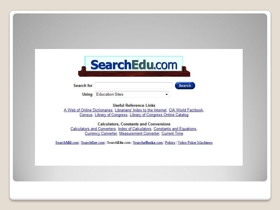 Ιστοσελίδα μηχανής αναζήτησης για εκπαιδευτικά θέματα