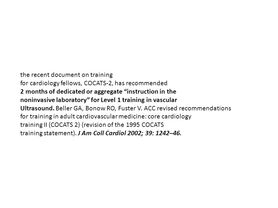 the recent document on training