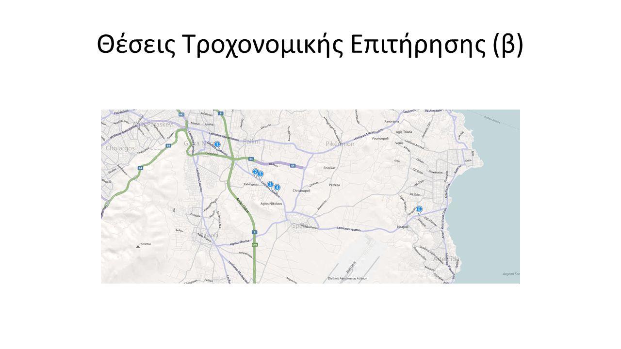 Θέσεις Τροχονομικής Επιτήρησης (β)