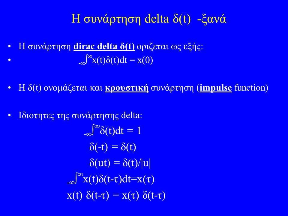 Η συνάρτηση delta δ(t) -ξανά