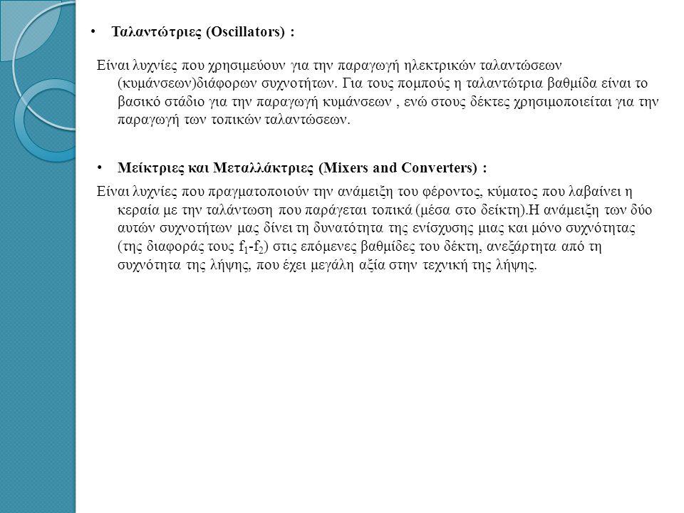 Ταλαντώτριες (Oscillators) :