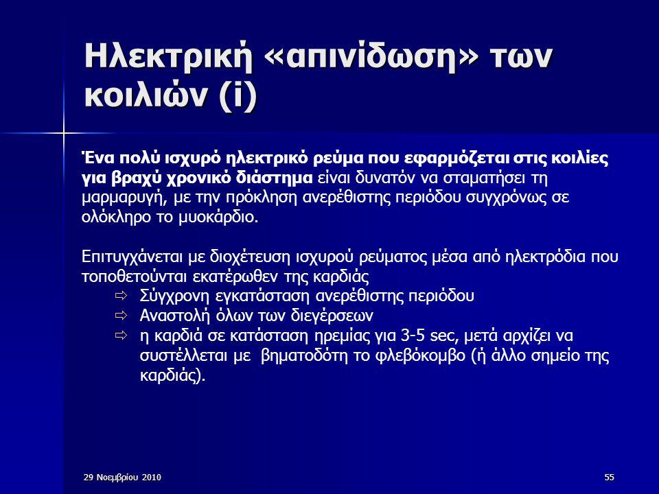 Ηλεκτρική «απινίδωση» των κοιλιών (i)