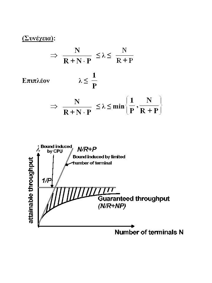 (Συνέχεια):  ≤ λ ≤ Επιπλέον λ ≤  ≤ λ ≤ min