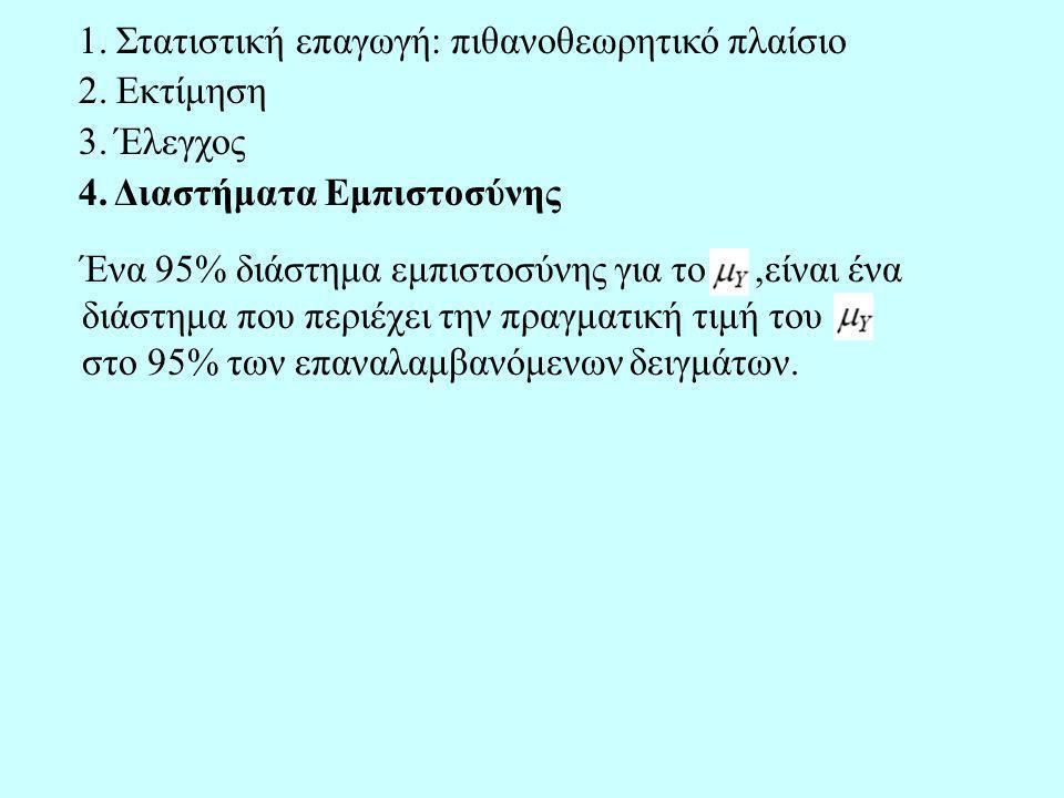 1. Στατιστική επαγωγή: πιθανοθεωρητικό πλαίσιο