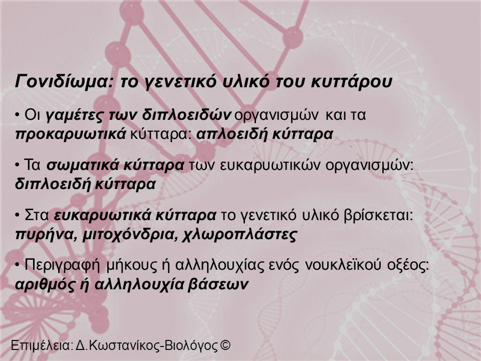 Γονιδίωμα: το γενετικό υλικό του κυττάρου