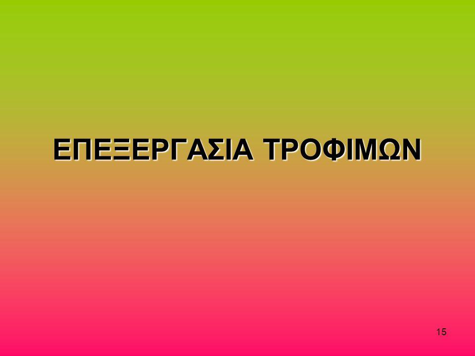 ΕΠΕΞΕΡΓΑΣΙΑ ΤΡΟΦΙΜΩΝ