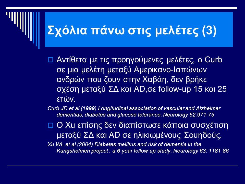 Σχόλια πάνω στις μελέτες (3)