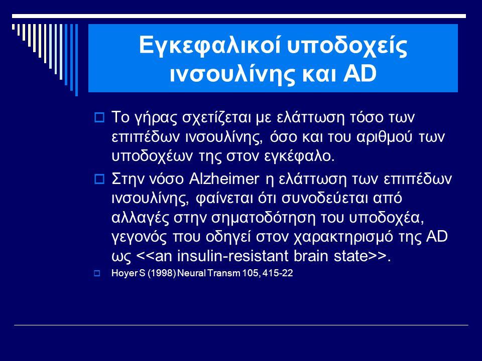 Εγκεφαλικοί υποδοχείς ινσουλίνης και AD