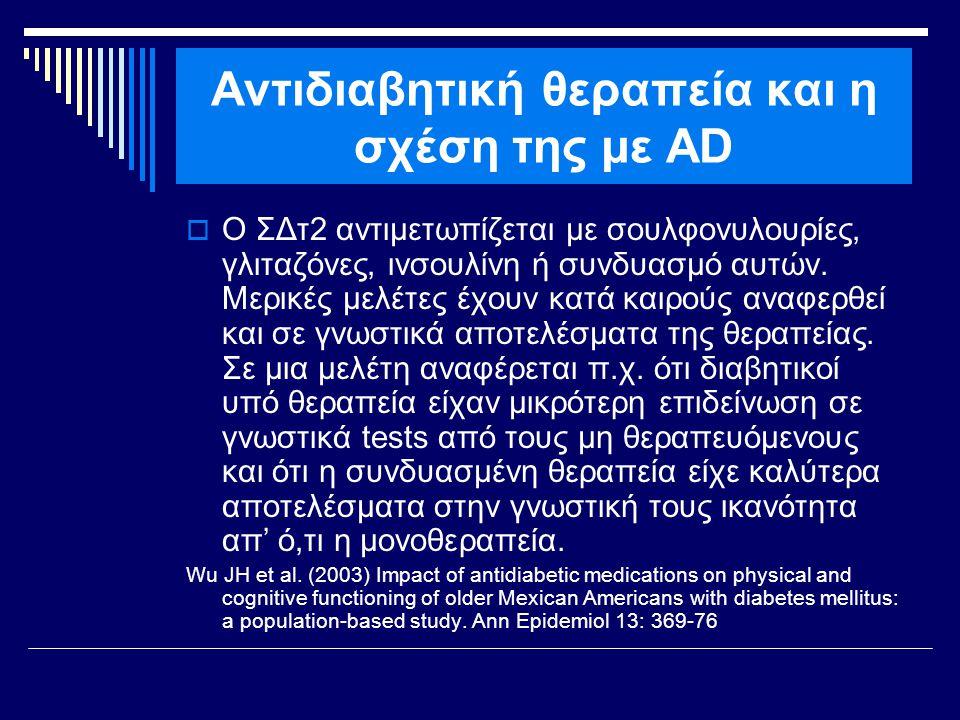 Αντιδιαβητική θεραπεία και η σχέση της με AD
