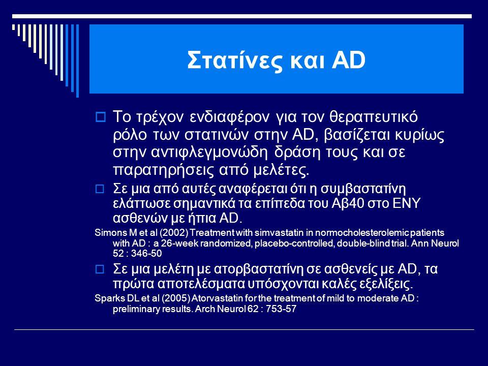 Στατίνες και AD
