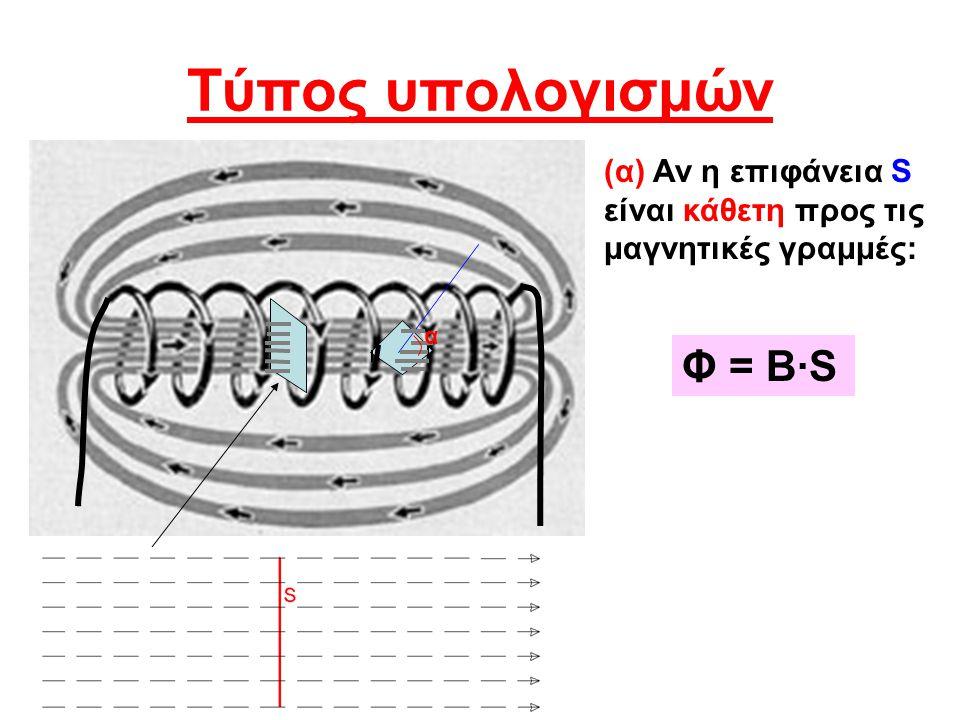 Τύπος υπολογισμών Φ = Β·S