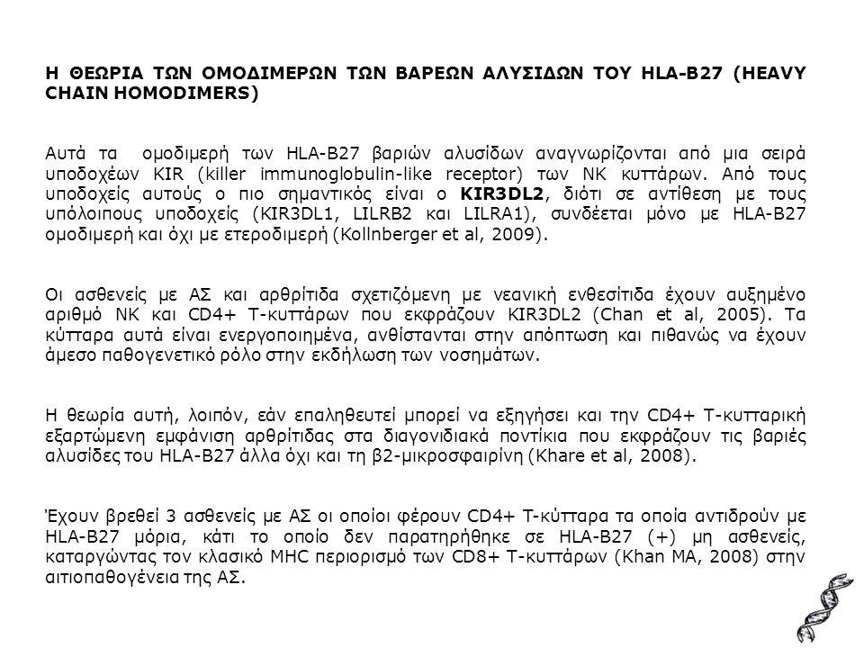 Η ΘΕΩΡΙΑ ΤΩΝ ΟΜΟΔΙΜΕΡΩΝ ΤΩΝ ΒΑΡΕΩΝ ΑΛΥΣΙΔΩΝ ΤΟΥ HLA-B27 (HEAVY CHAIN HOMODIMERS)