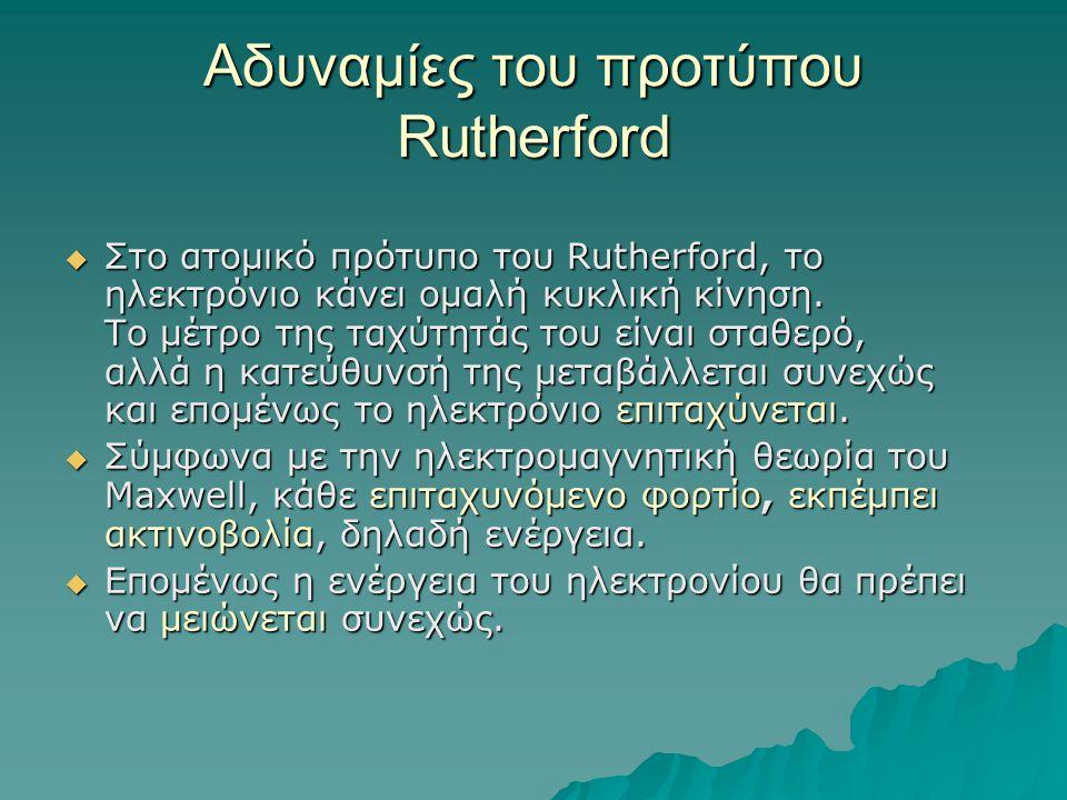 Αδυναμίες του προτύπου Rutherford