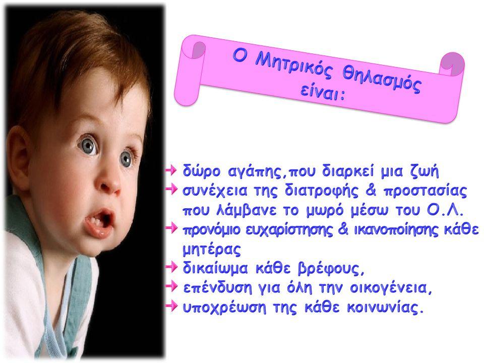 Ο Μητρικός θηλασμός είναι: