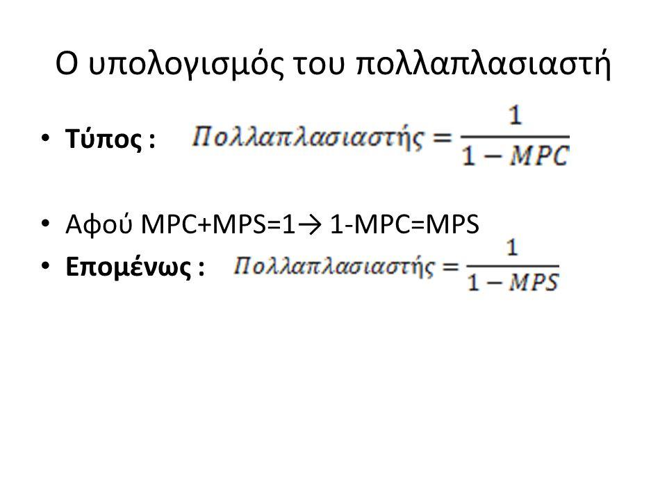 Ο υπολογισμός του πολλαπλασιαστή
