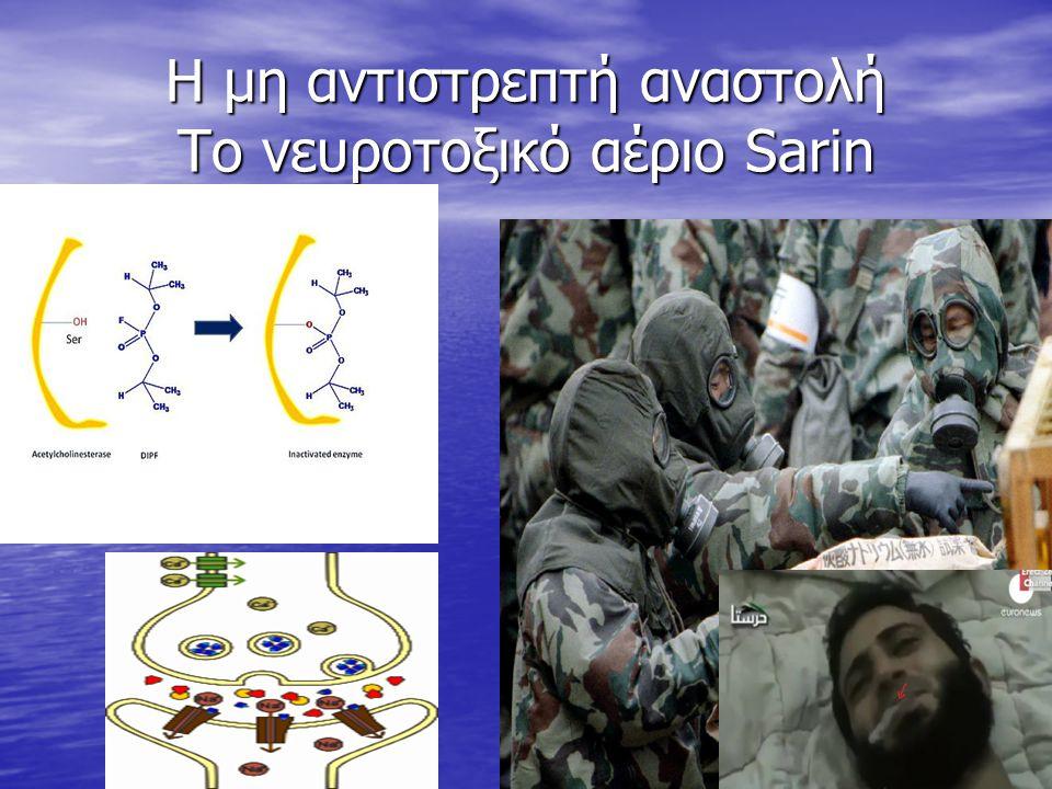 Η μη αντιστρεπτή αναστολή Το νευροτοξικό αέριο Sarin