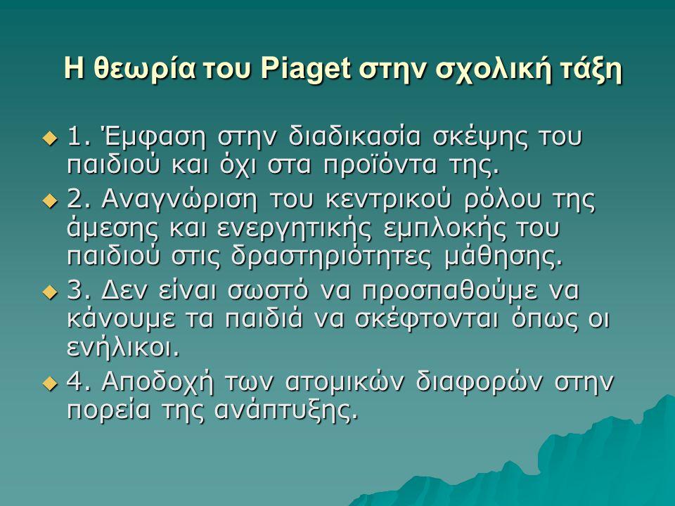 Η θεωρία του Piaget στην σχολική τάξη