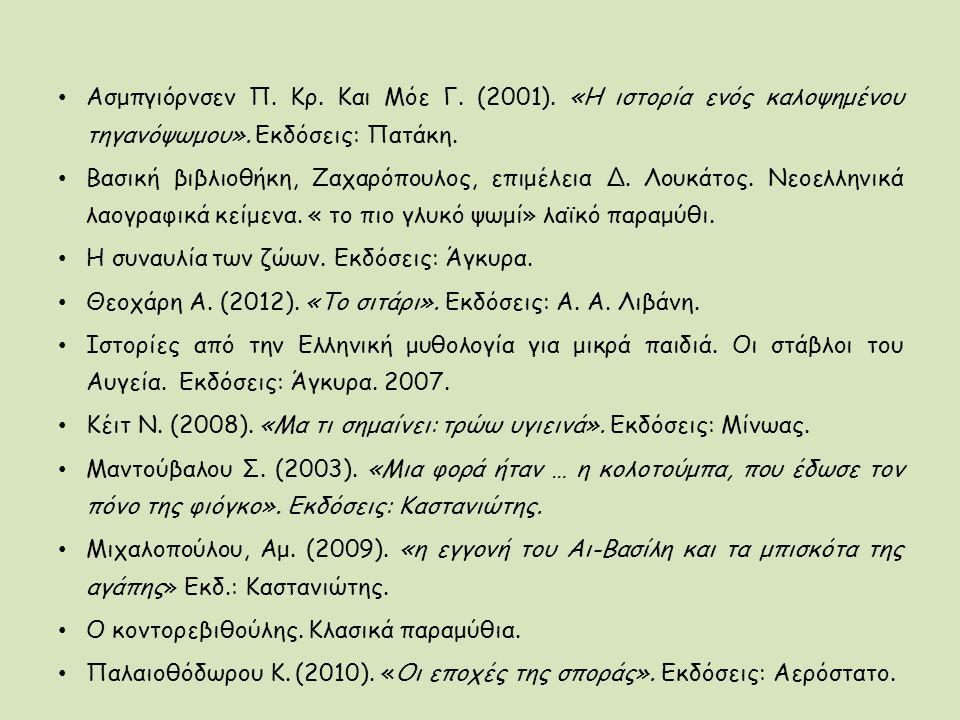 Ασμπγιόρνσεν Π. Κρ. Και Μόε Γ. (2001)