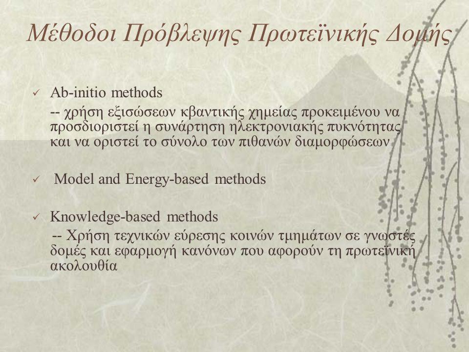 Μέθοδοι Πρόβλεψης Πρωτεϊνικής Δομής