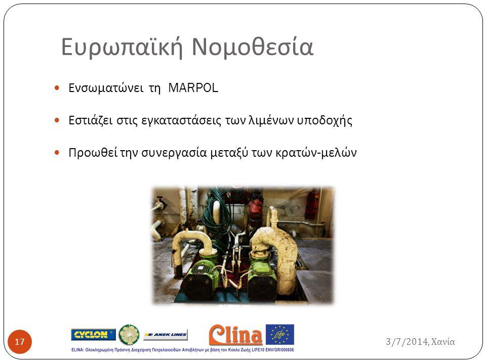 Ευρωπαϊκή Νομοθεσία Ενσωματώνει τη MARPOL