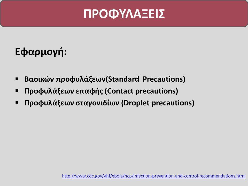 ΠΡΟΦΥΛΑΞΕΙΣ Εφαρμογή: Βασικών προφυλάξεων(Standard Precautions)
