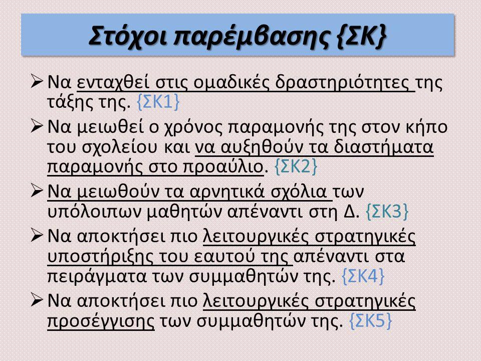 Στόχοι παρέμβασης {ΣΚ}