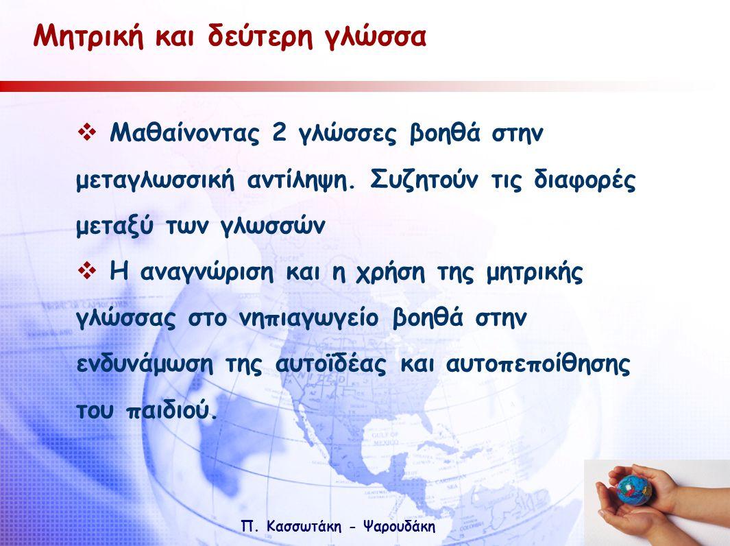 Μητρική και δεύτερη γλώσσα