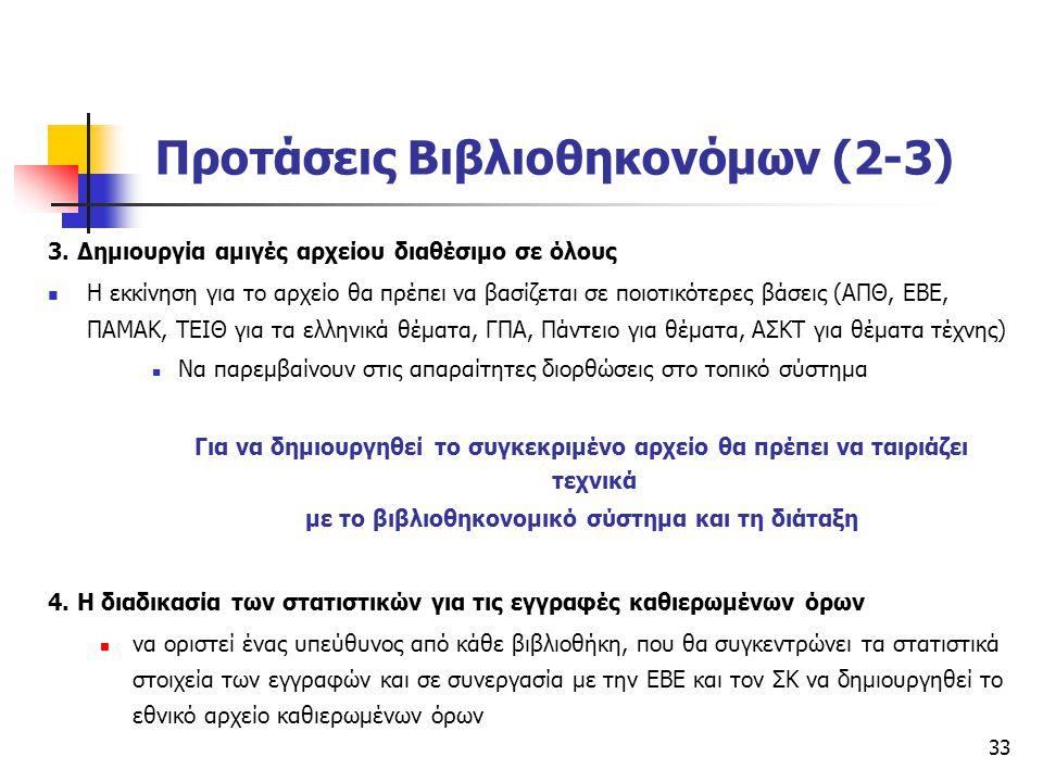 Προτάσεις Βιβλιοθηκονόμων (2-3)