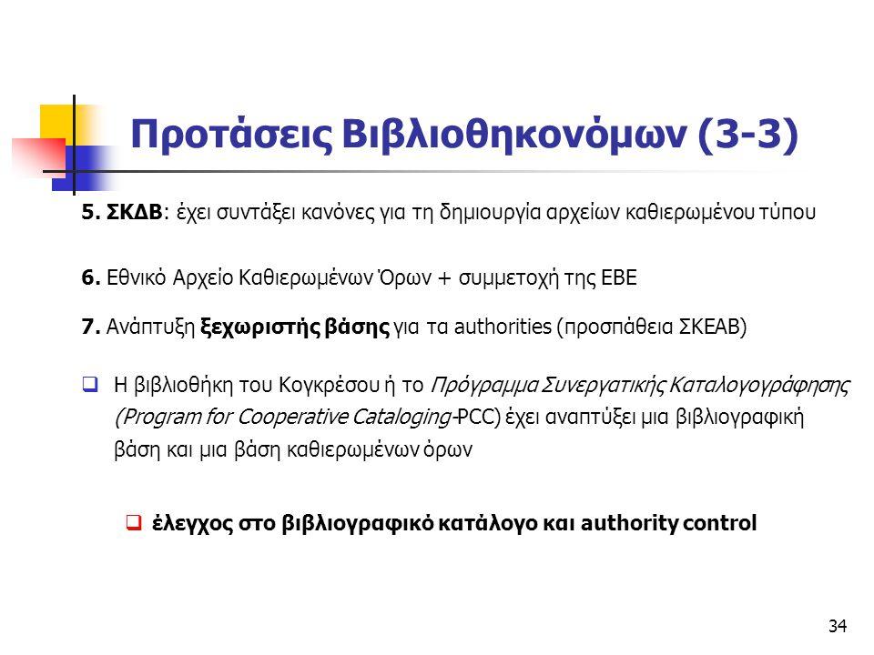 Προτάσεις Βιβλιοθηκονόμων (3-3)