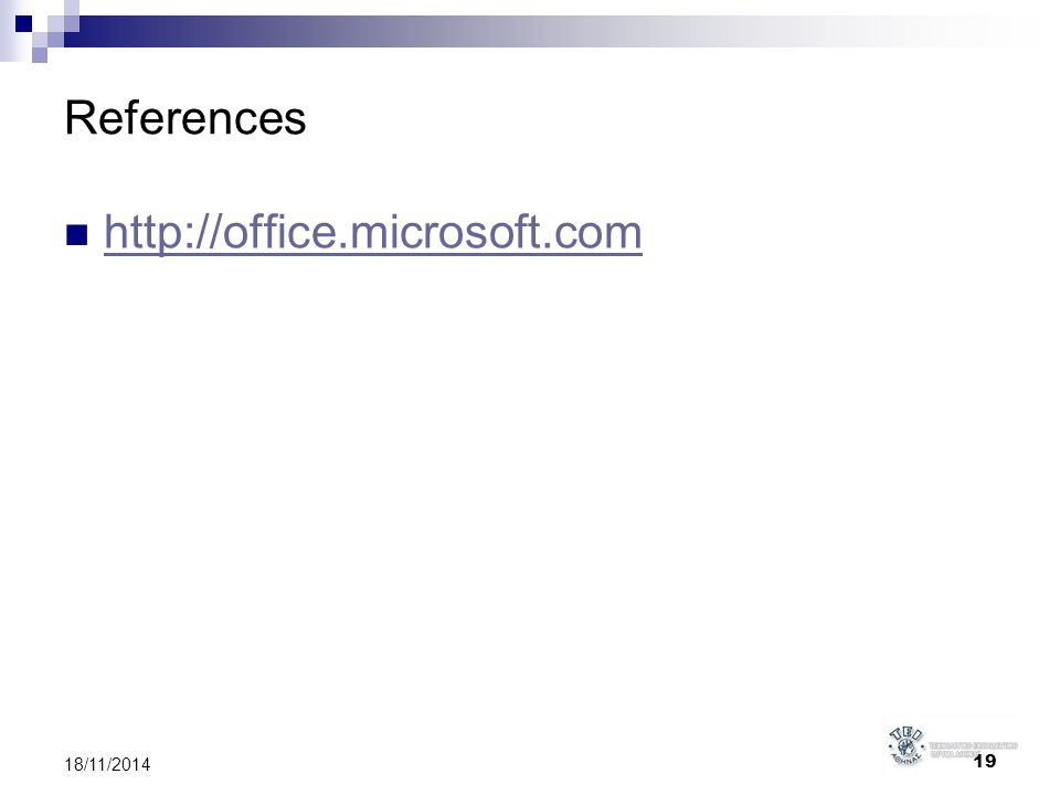 References http://office.microsoft.com 6/4/2017