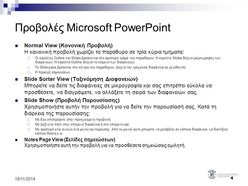 Προβολές Microsoft PowerPoint