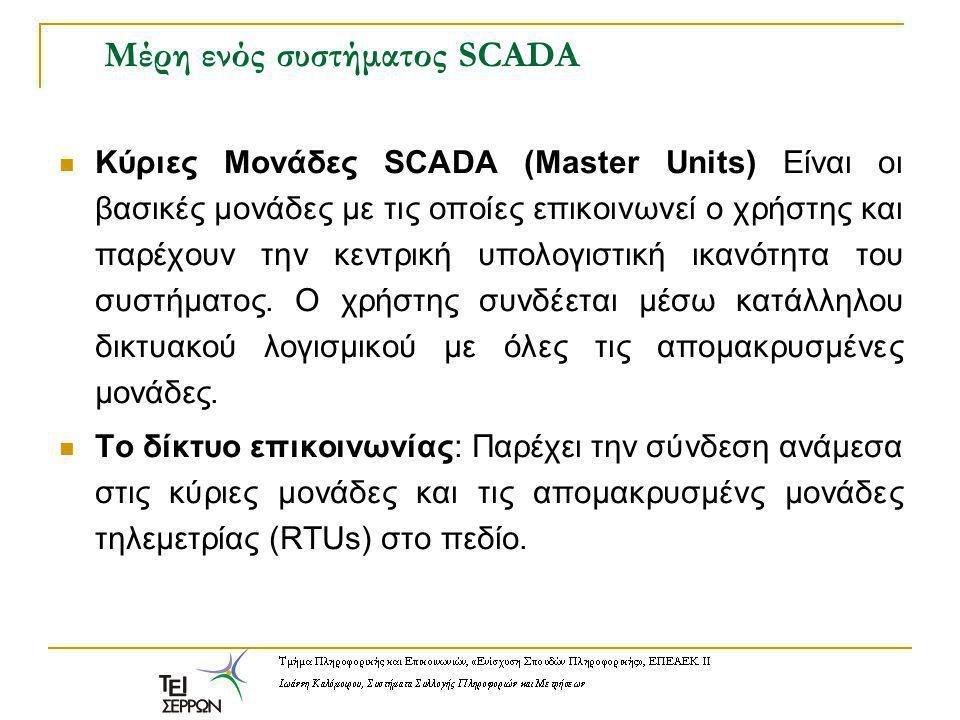 Μέρη ενός συστήματος SCADA