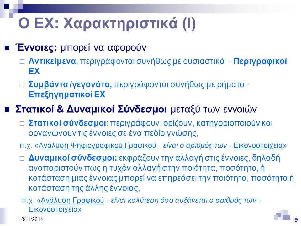 Ο ΕΧ: Χαρακτηριστικά (Ι)