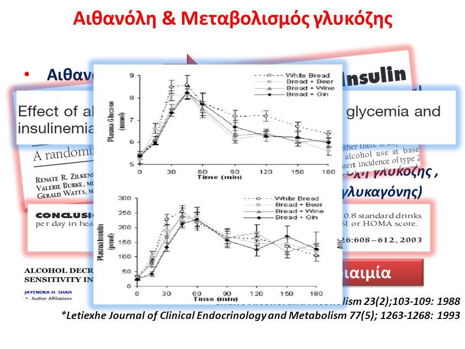 Αιθανόλη & Μεταβολισμός γλυκόζης