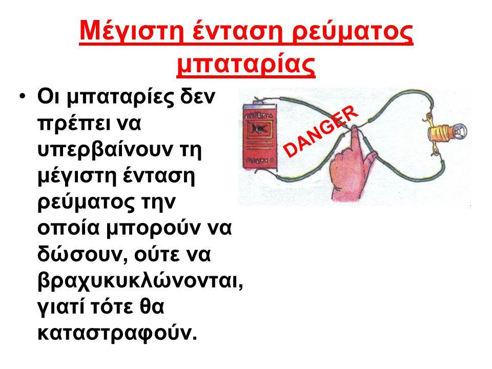 Μέγιστη ένταση ρεύματος μπαταρίας