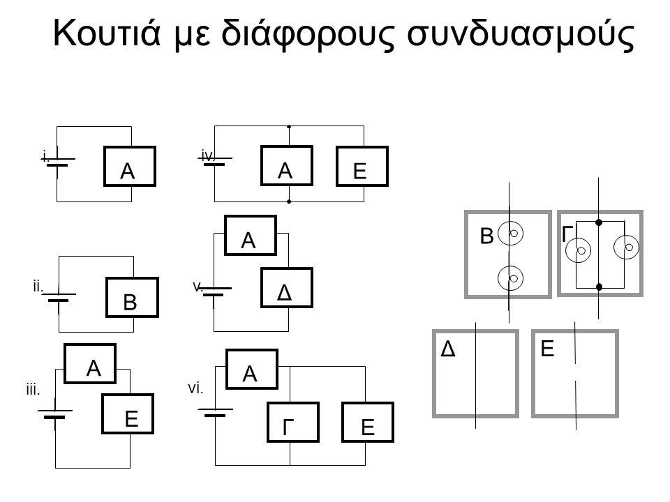 Κουτιά με διάφορους συνδυασμούς