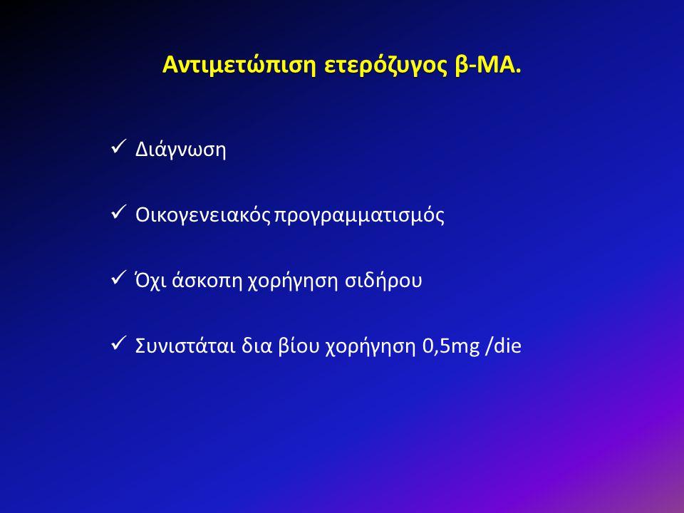 Αντιμετώπιση ετερόζυγος β-ΜΑ.